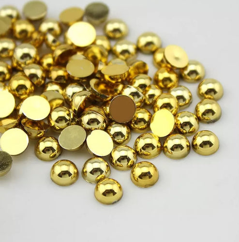 Puolihelmi, gold 6mm