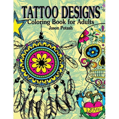 Tattoo Designs Coloring Book For Adults Paperback