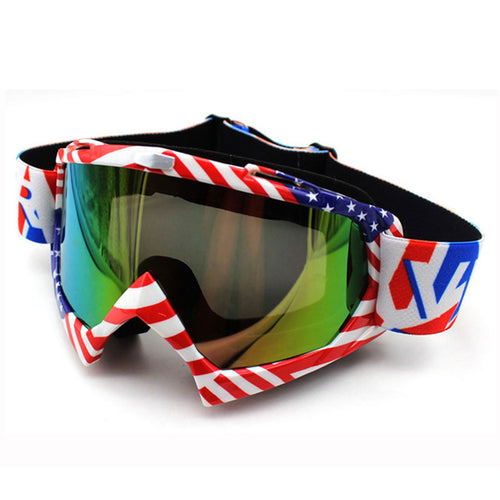 American Flag Motocross Goggles
