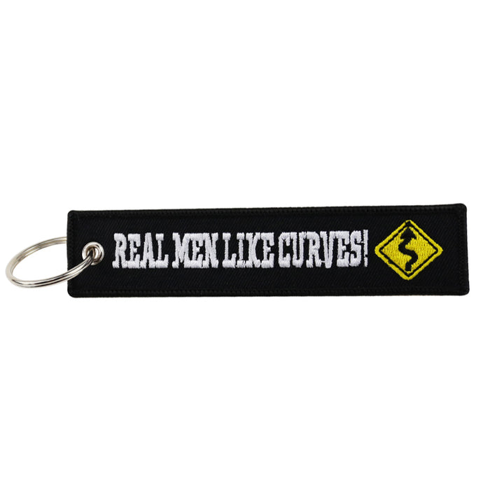 Real Men Like Curves Key Tag