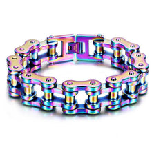 Load image into Gallery viewer, Motorcycle Chain Bracelet (Neochrome)