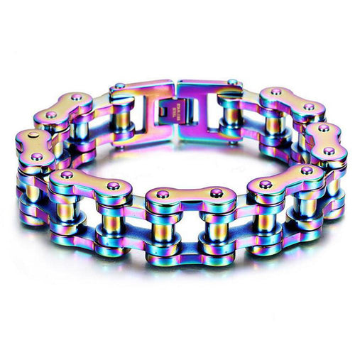 Motorcycle Chain Bracelet (Neochrome)