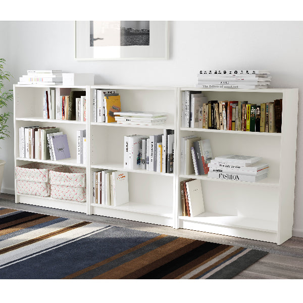 IKEA BILLY low Bookcase, white, 240 cm