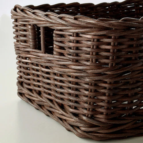 IKEA GABBIG Basket, dark brown, 29x25x15 cm