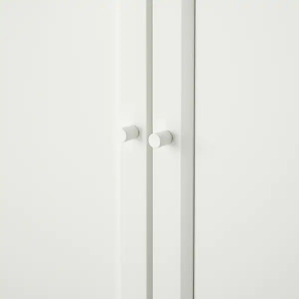 IKEA BILLY Bookcase with half doors, white, 80 cm