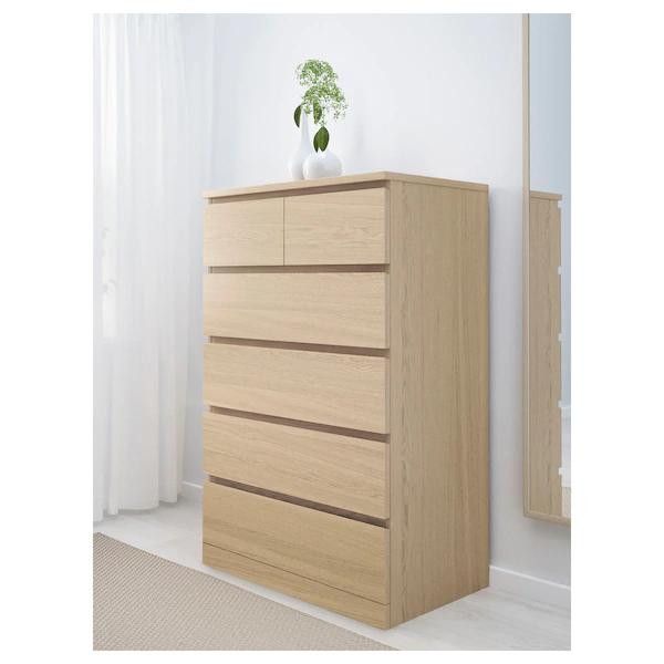 IKEA MALM Chest of 6 drawers, tall boy