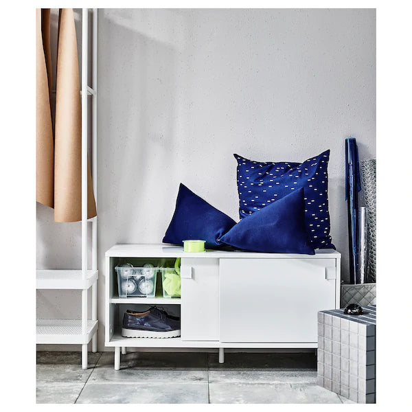 IKEA MACKAPAR Bench with storage, white, 100x51 cm