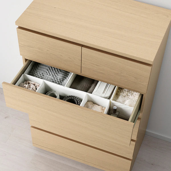 IKEA MALM Chest of 6 drawers, tall boy, 80x123 cm