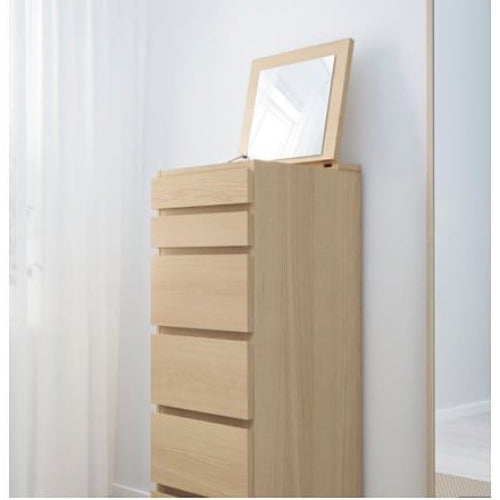IKEA MALM 6 drawers with mirror glass, 40x123 cm