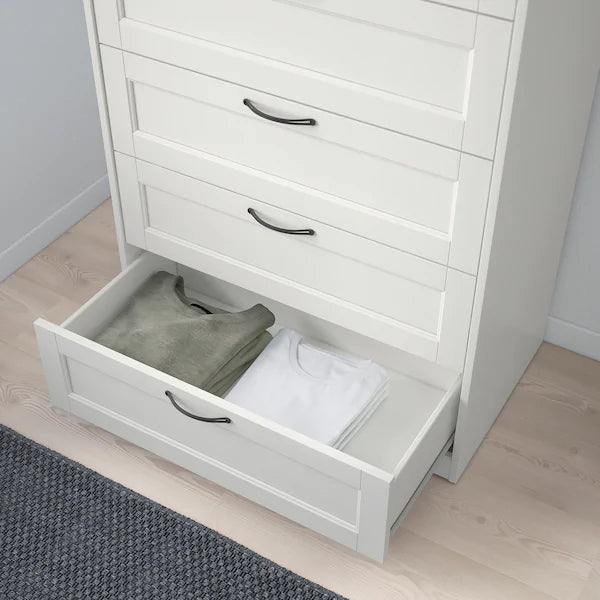IKEA SONGESAND Chest of 6 drawers, white, 82x126 cm