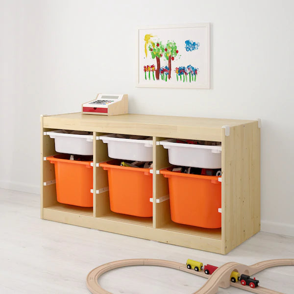 IKEA TROFAST Storage combination, long pine, 99x44x52 cm