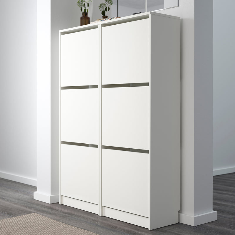 IKEA BISSA Shoe cabinet with 3 doors