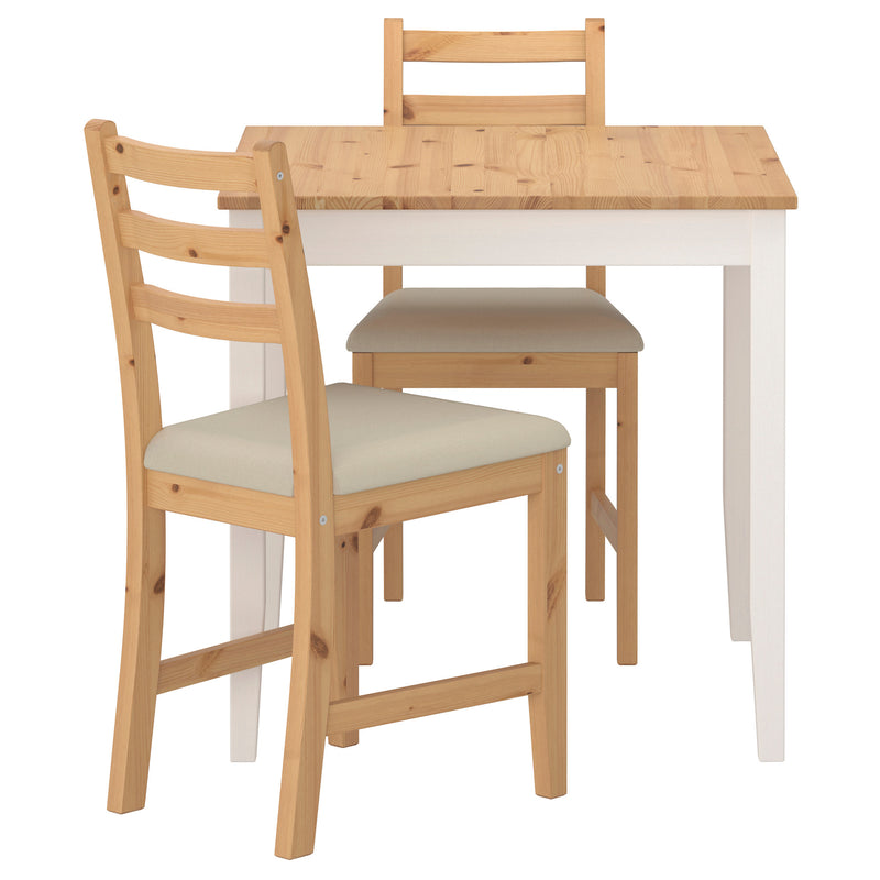 LERHAMN Table and 2 chairs. 74 cm