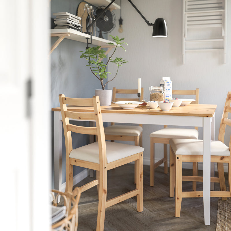 LERHAMN Table and 4 chairs, 118 cm