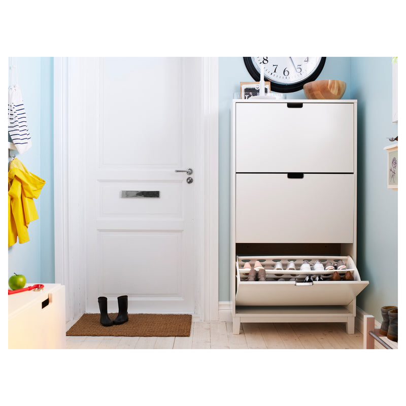 IKEA STALL Shoe cabinet with 3 doors, white