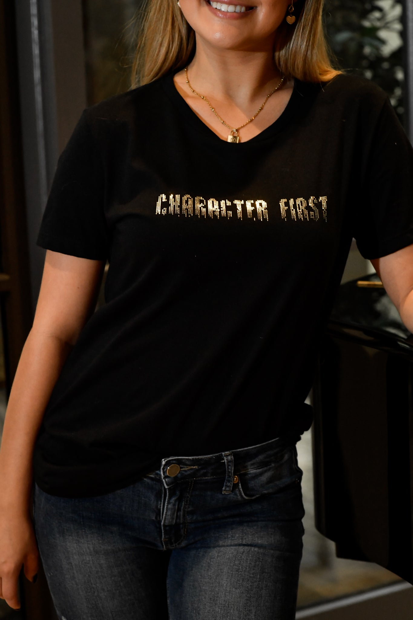 Character First In Black & Gold - Shop La's Showroom