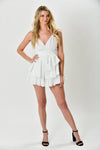 White Chiffron Romper - Shop La's Showroom