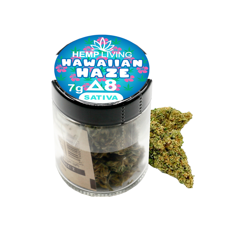 Hemp Living - Delta 8 Flower 7g Jar - Hawaiian Haze