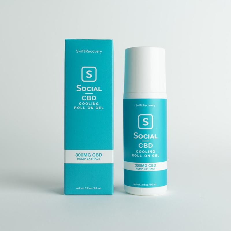 Social CBD 300MG Roll-On Gel 3oz - Hemp Living USA