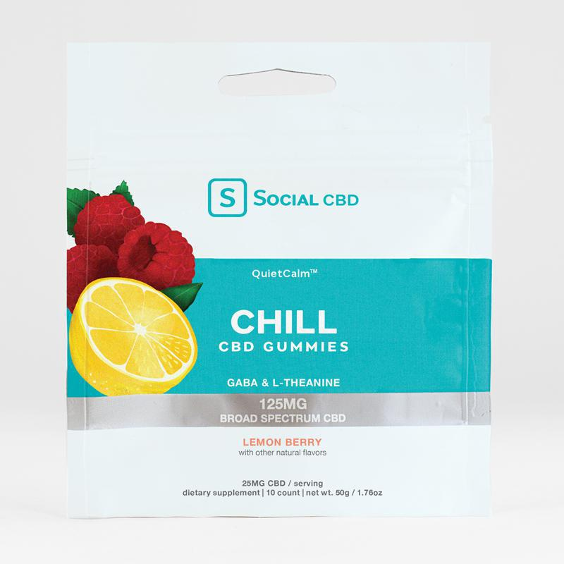 Social CBD Chill CBD Gummies 10ct 125MG - Lemon Berry
