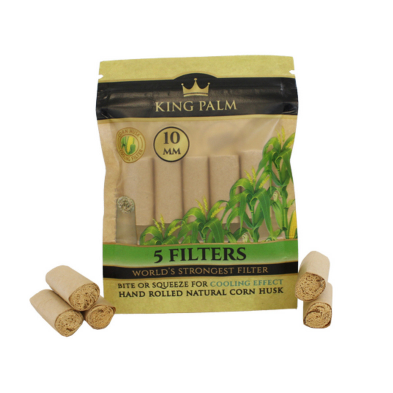 King Palm 10mm 5pk Corn Husk Filters - Hemp Living USA