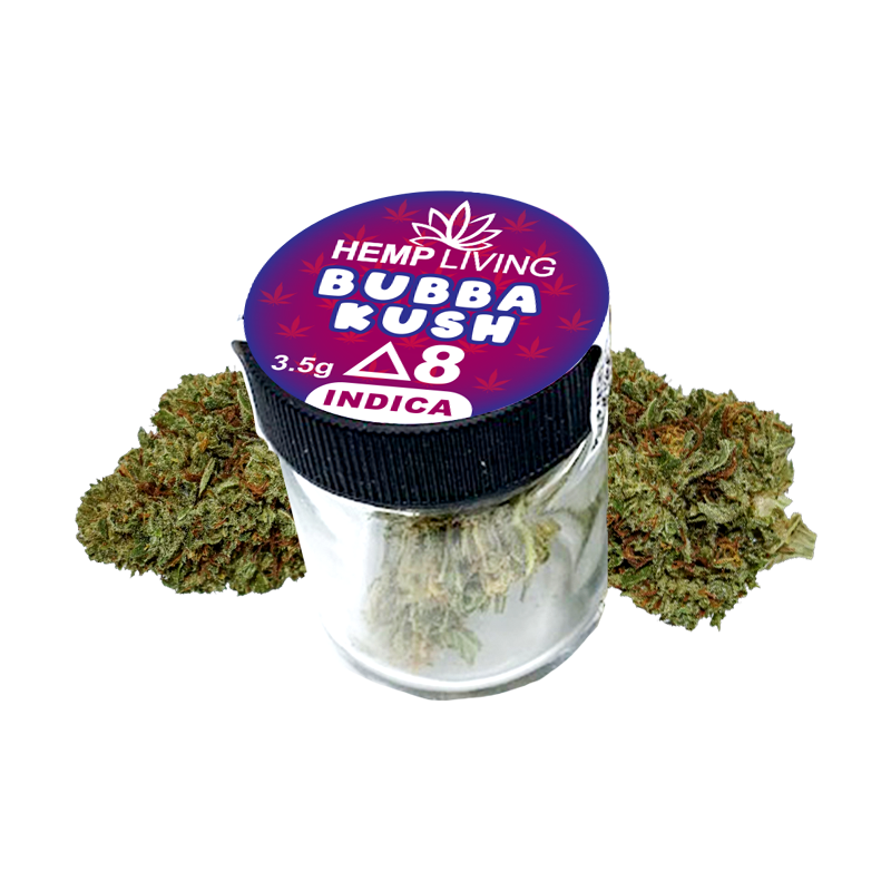 Hemp Living - Delta 8 Flower 3.5g Jar - Bubba Kush