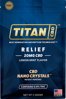 Titan CBD Relief 20mg Single Packet - Hemp Living USA