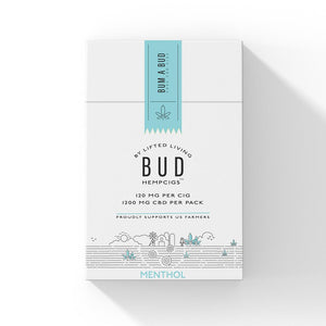 Lifted Living BUD™  Menthol HempCigs - Pack of 10