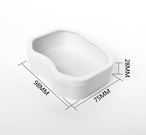 FLASH SALE Medium White Food or Water Bowl (Escape Proof Edge)