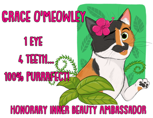 Grace O'Meowley's Honorary Inner Beauty Ambassador Magnet (FREE SHIPPING)