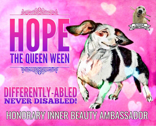 Hope The Queen Ween's Honorary Inner Beauty Ambassador Sticker (FREE SHIPPING)