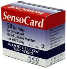 Sensocard / Sensocard Plus Test Strips (2 x vials of 25 strips)