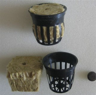 Plastic Mesh Planting Pots & Rock Wool & Booster Tablet