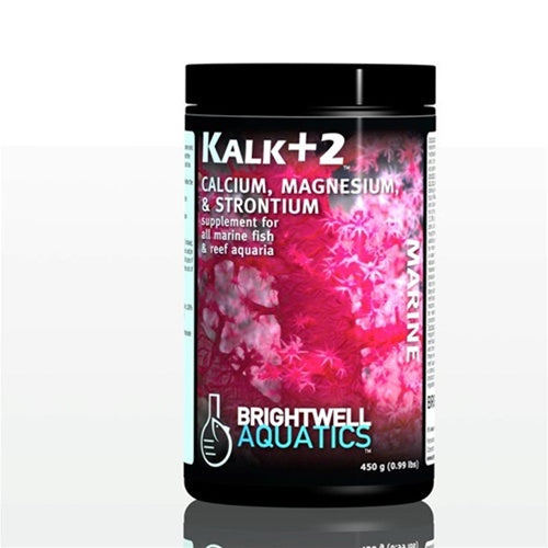 Brightwell Kalk+2 Kalkwasser Supplement W/Calcium, Stron, &Mag. 450 GM