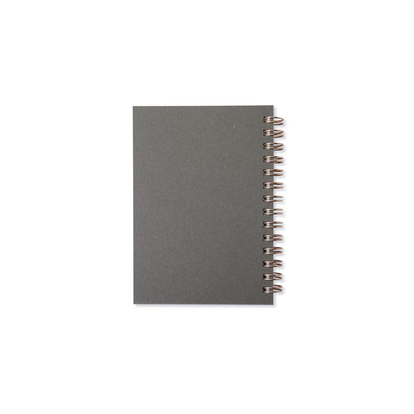 Notebooks thick leather cover〈B7  gray〉