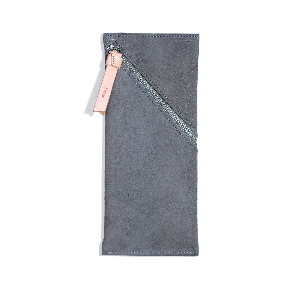Spiral pen case -gray-