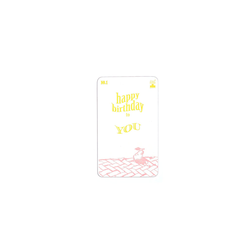 MESSAGE CARD -HAPPY BIRTHDAY-