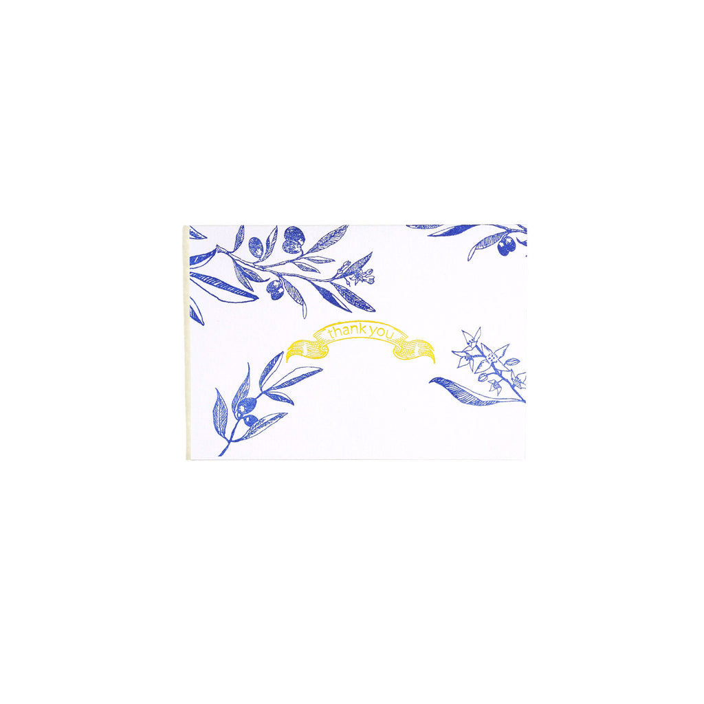 MESSAGE CARD -Spring Olive-