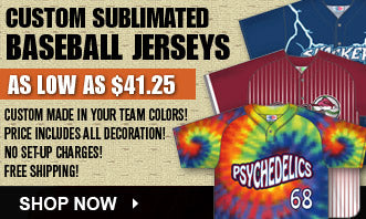Custom Baseball Sublimated Jerseys