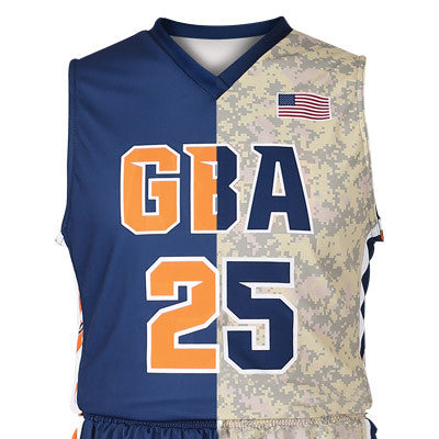 Custom Sublimated Basketball 1-Ply Reversible Game Jersey