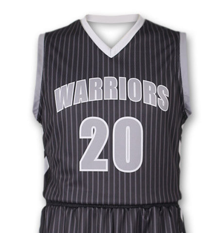 """Traveler"" Custom Sublimated Basketball Jersey Front View"
