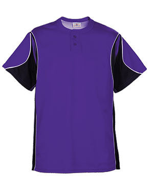 Crossbow Two-Button Teardrop Mesh Baseball Jersey Purple