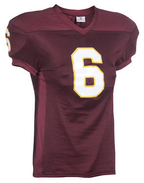 Crunch Time Football Jersey with Spandex Side Inserts Maroon