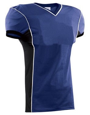 Roll Out Football Jersey with Spandex Side Inserts Royal/Black/White