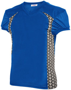 Gauntlet Football Jersey with Printed Spandex Side Inserts Royal