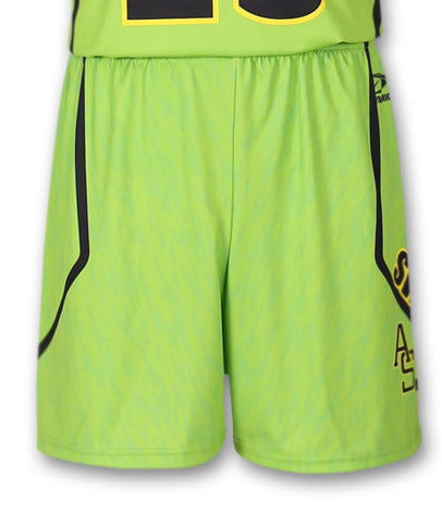 """Blocker"" Custom Sublimated Basketball Short Front View"