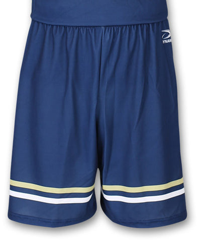 """Charge"" Custom Sublimated Basketball Short Front View"