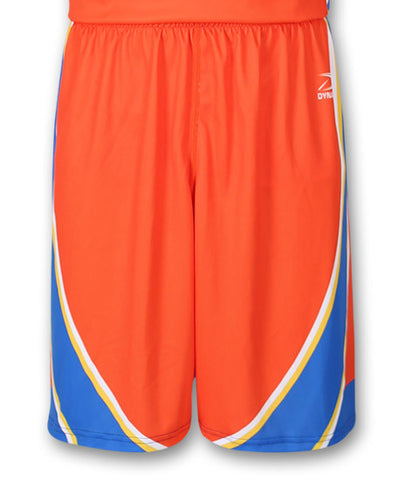 """Swish"" Custom Sublimated Basketball Short Front View"
