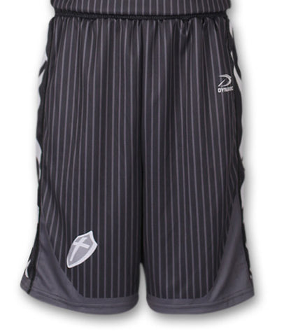 """Traveler"" Custom Sublimated Basketball Short Front View"