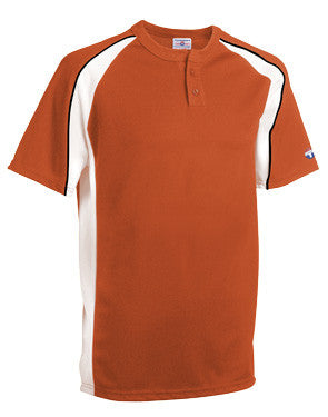Knuckler Two-Button Cool Mesh Baseball Jersey Texas Orange/White/Black